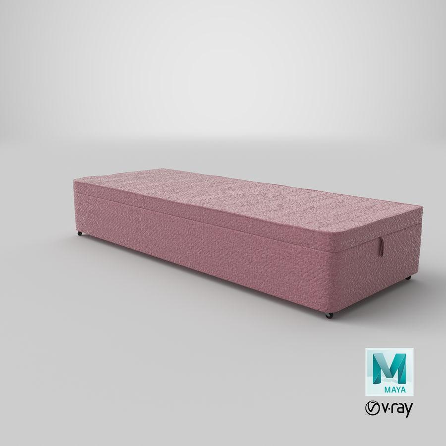 Bed Base 02 Blush royalty-free 3d model - Preview no. 27