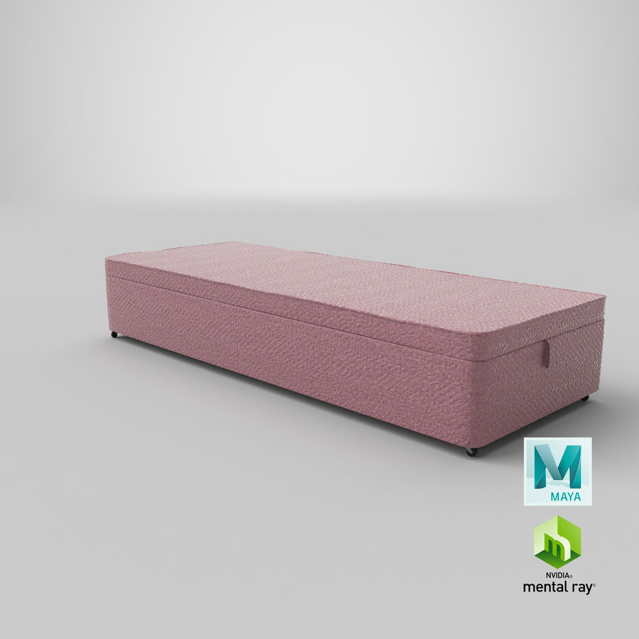 Bed Base 02 Blush royalty-free 3d model - Preview no. 26
