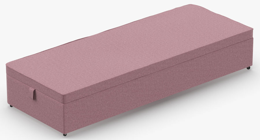 Bed Base 02 Blush royalty-free 3d model - Preview no. 6