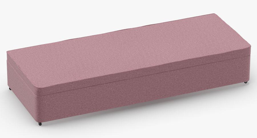Bed Base 02 Blush royalty-free 3d model - Preview no. 3