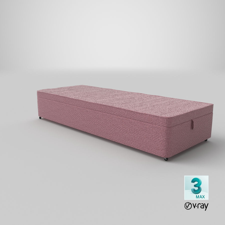 Bed Base 02 Blush royalty-free 3d model - Preview no. 24