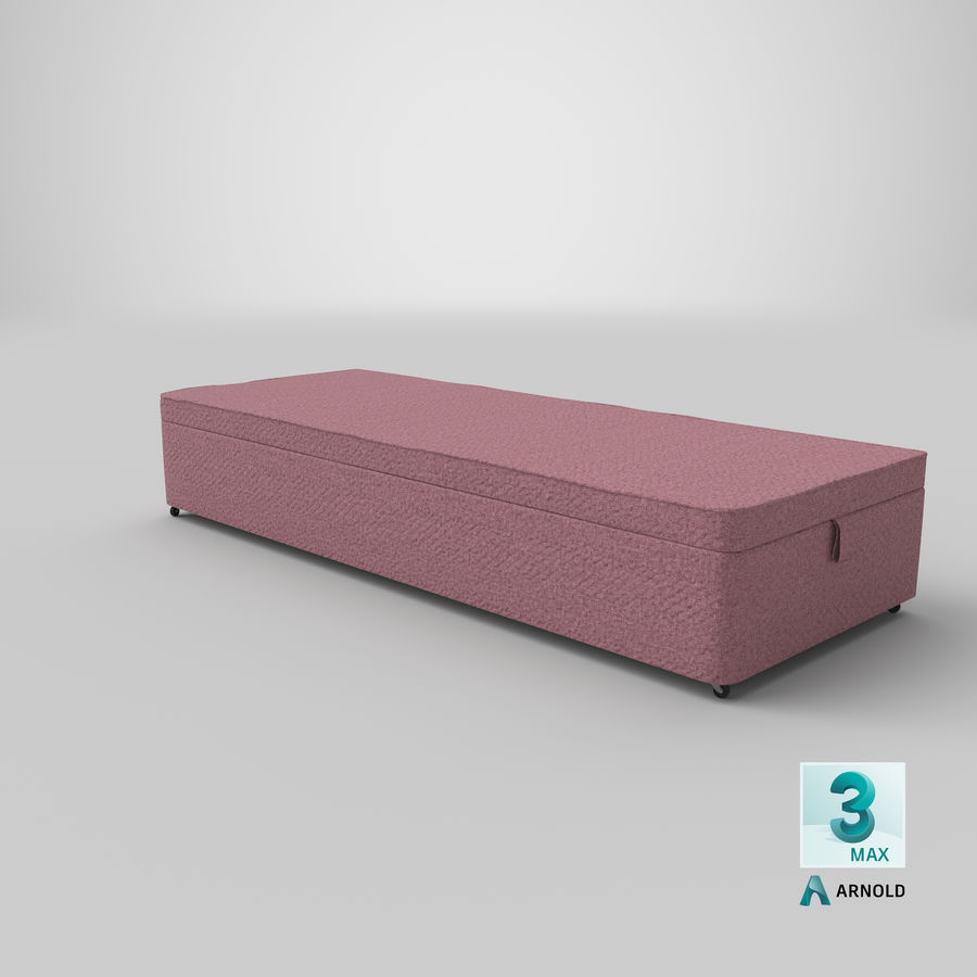 Bed Base 02 Blush royalty-free 3d model - Preview no. 22