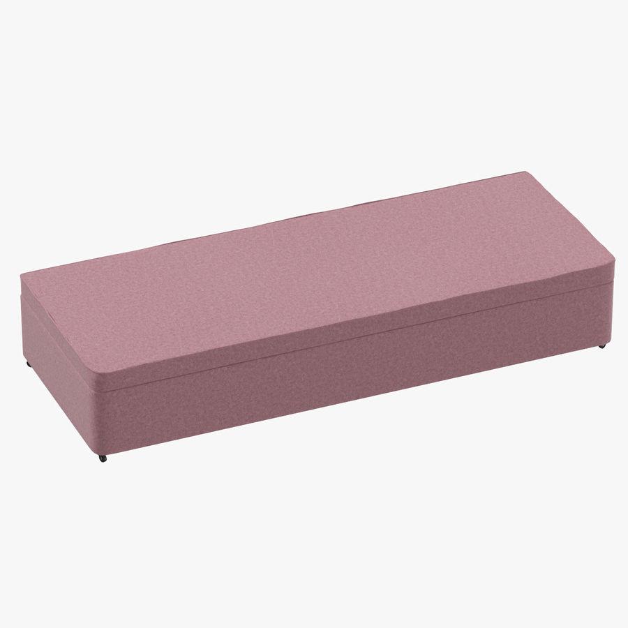 Bed Base 02 Blush royalty-free 3d model - Preview no. 1
