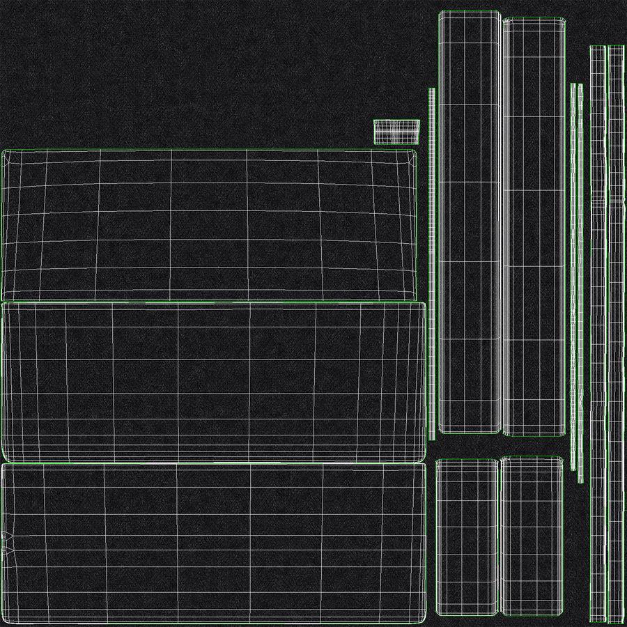 Baza łóżka 02 Węgiel drzewny royalty-free 3d model - Preview no. 20