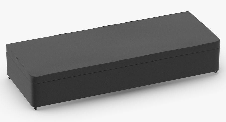Основание кровати 02 Древесный уголь royalty-free 3d model - Preview no. 3
