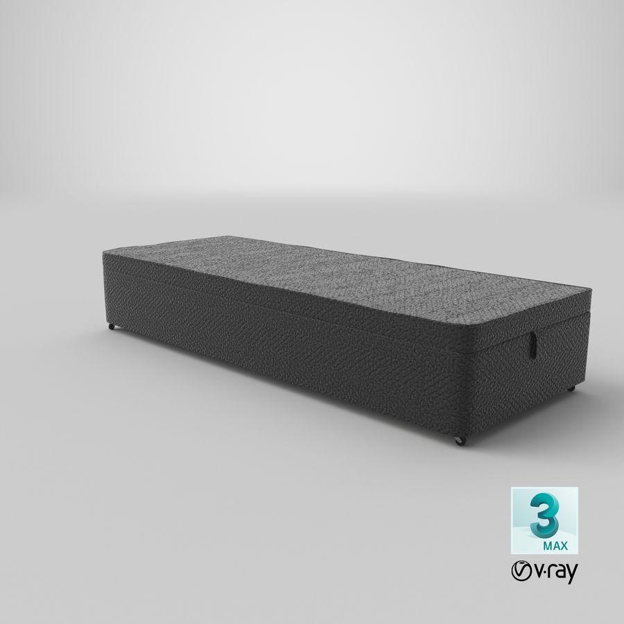 Baza łóżka 02 Węgiel drzewny royalty-free 3d model - Preview no. 25