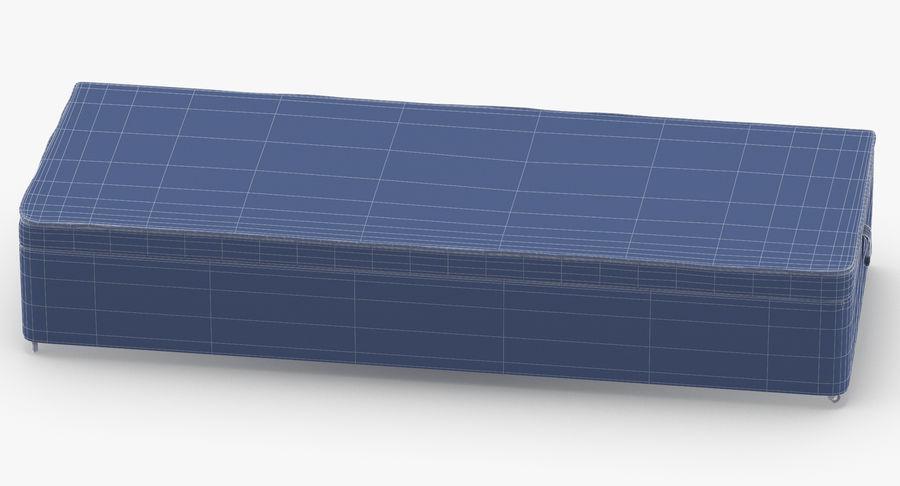 Основание кровати 02 Древесный уголь royalty-free 3d model - Preview no. 13