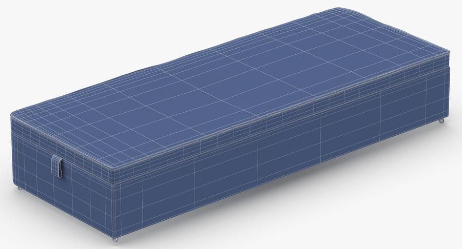Baza łóżka 02 Węgiel drzewny royalty-free 3d model - Preview no. 14