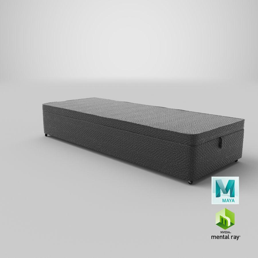 Baza łóżka 02 Węgiel drzewny royalty-free 3d model - Preview no. 27