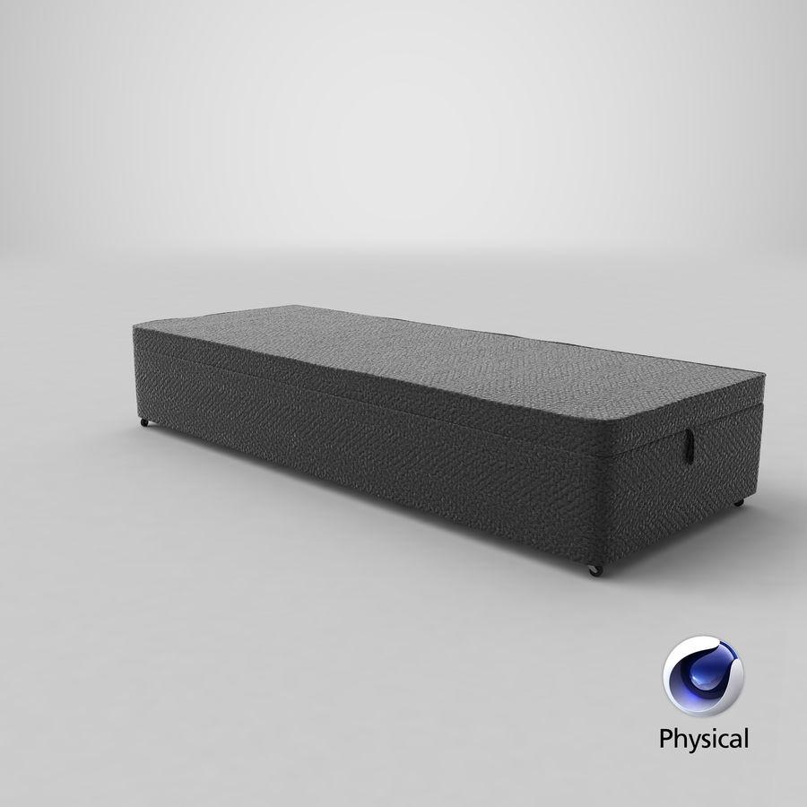 Baza łóżka 02 Węgiel drzewny royalty-free 3d model - Preview no. 21