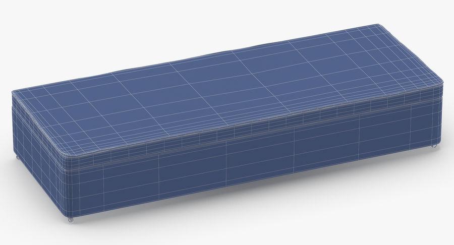 Основание кровати 02 Древесный уголь royalty-free 3d model - Preview no. 11