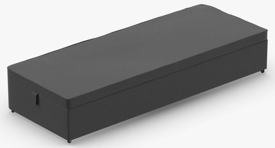 Основание кровати 02 Древесный уголь royalty-free 3d model - Preview no. 6