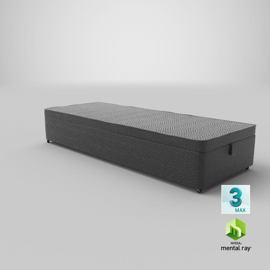 Основание кровати 02 Древесный уголь royalty-free 3d model - Preview no. 24