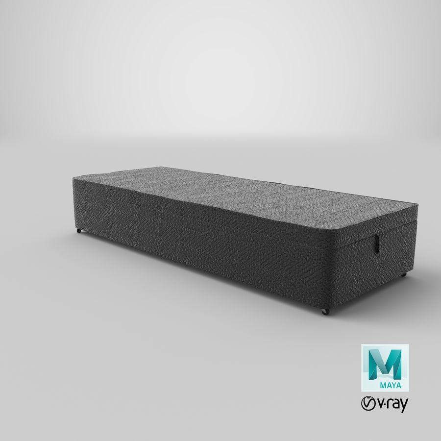 Baza łóżka 02 Węgiel drzewny royalty-free 3d model - Preview no. 28