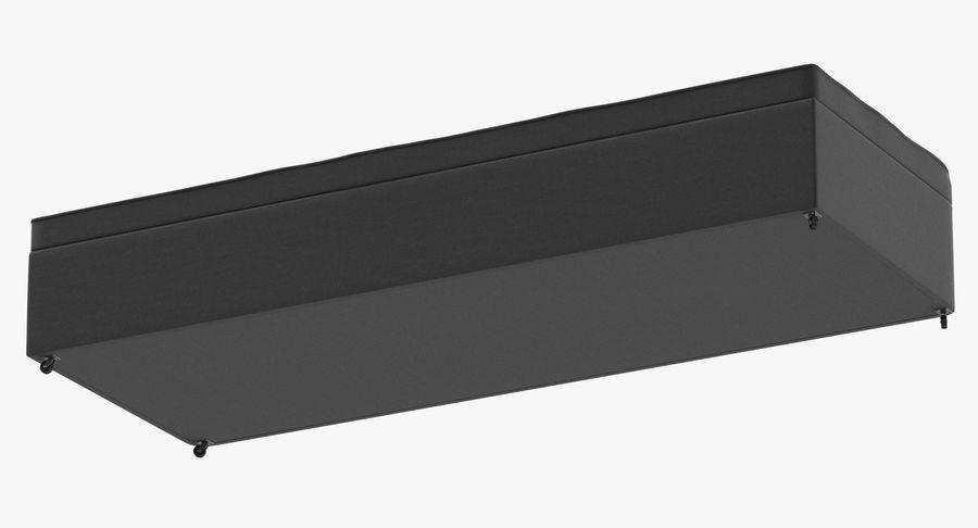 Основание кровати 02 Древесный уголь royalty-free 3d model - Preview no. 8
