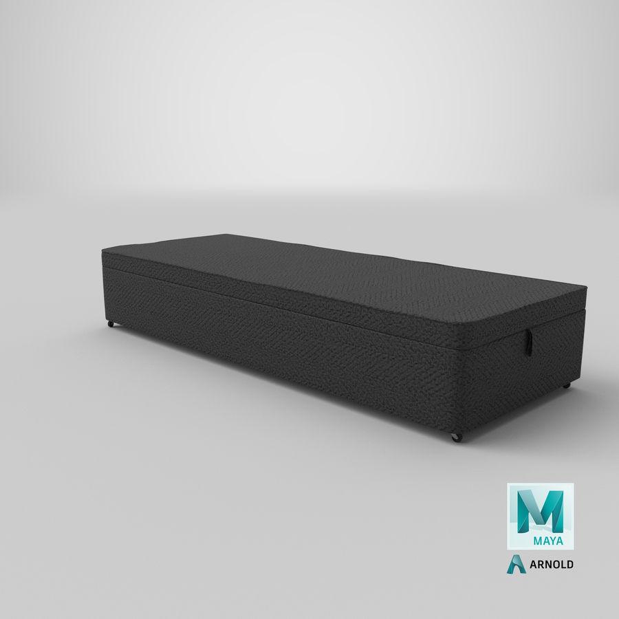 Основание кровати 02 Древесный уголь royalty-free 3d model - Preview no. 26