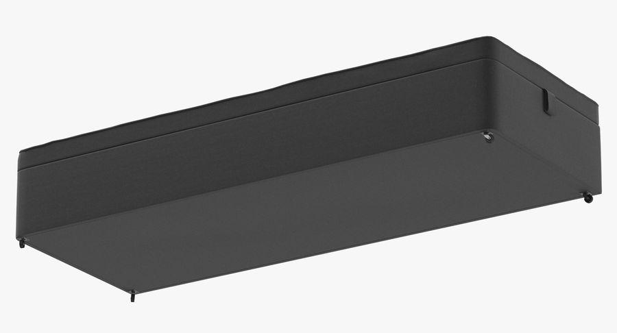 Основание кровати 02 Древесный уголь royalty-free 3d model - Preview no. 9