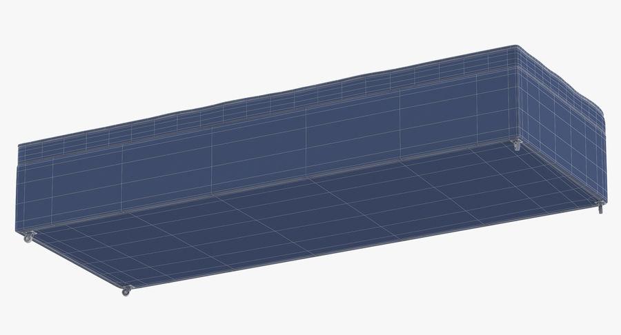 Основание кровати 02 Древесный уголь royalty-free 3d model - Preview no. 16