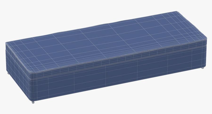 Основание кровати 02 Древесный уголь royalty-free 3d model - Preview no. 10