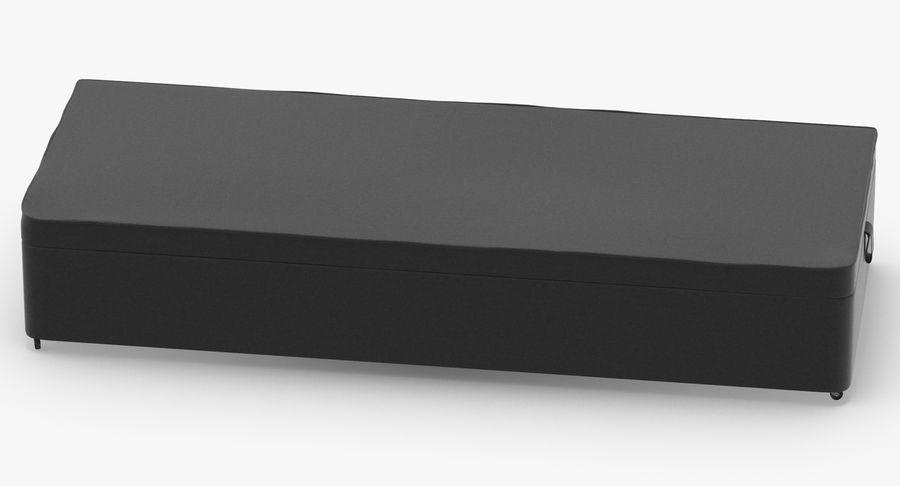 Основание кровати 02 Древесный уголь royalty-free 3d model - Preview no. 5