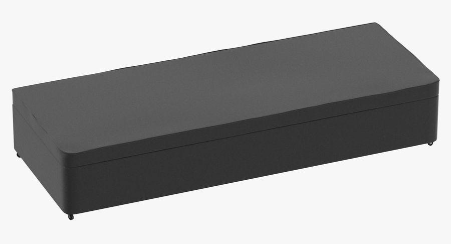 Baza łóżka 02 Węgiel drzewny royalty-free 3d model - Preview no. 2