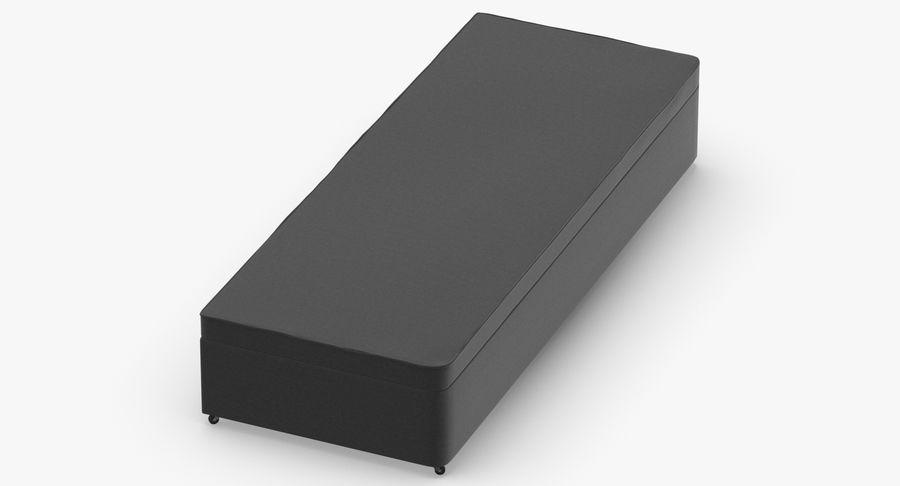 Основание кровати 02 Древесный уголь royalty-free 3d model - Preview no. 4