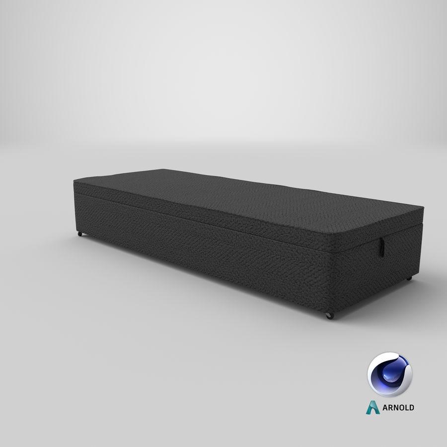 Baza łóżka 02 Węgiel drzewny royalty-free 3d model - Preview no. 22