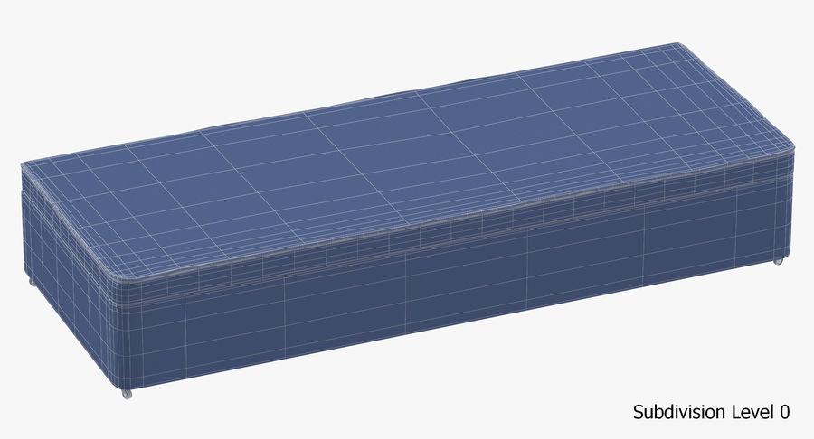 Основание кровати 02 Древесный уголь royalty-free 3d model - Preview no. 18