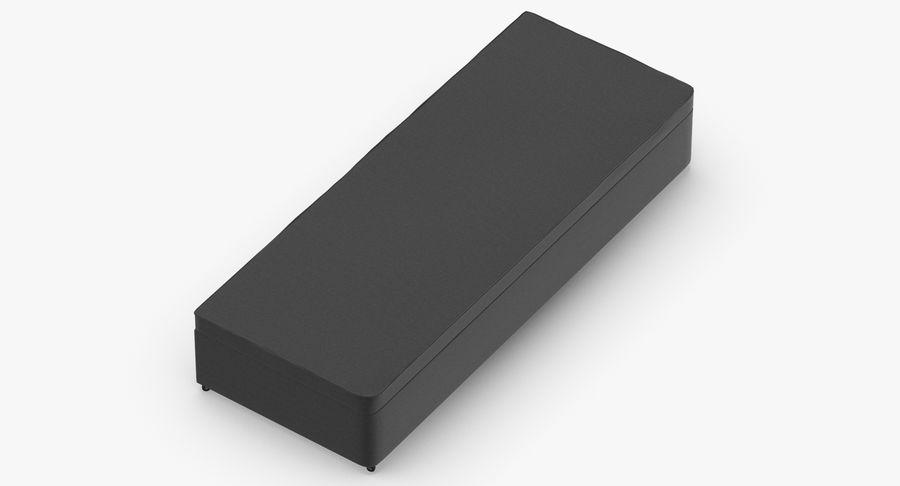 Основание кровати 02 Древесный уголь royalty-free 3d model - Preview no. 7
