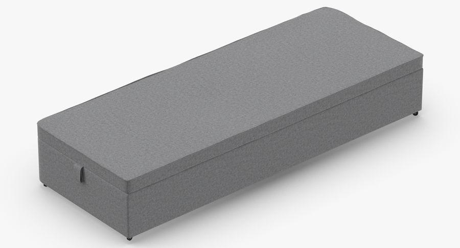 Основание кровати 02 Серый royalty-free 3d model - Preview no. 6