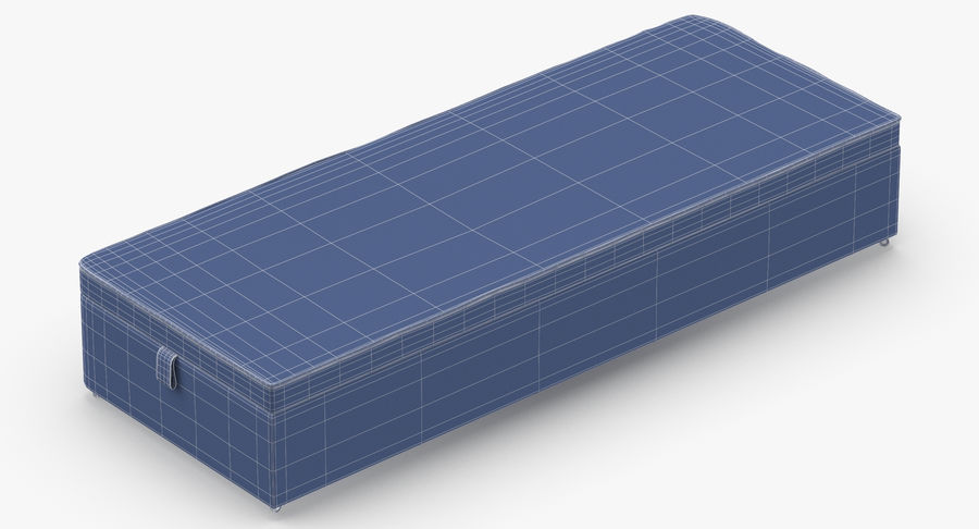 Bed Base 02 Grey royalty-free 3d model - Preview no. 14
