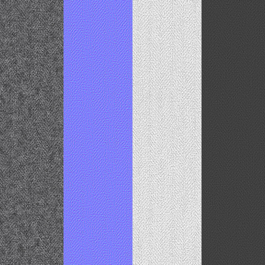Bed Base 02 Grey royalty-free 3d model - Preview no. 19