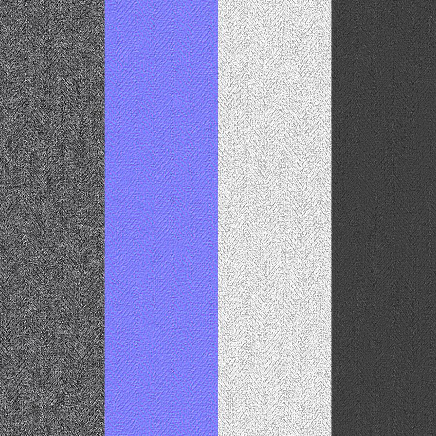 Основание кровати 02 Серый royalty-free 3d model - Preview no. 19