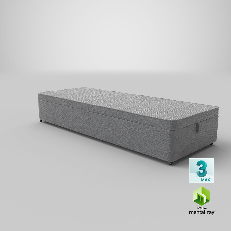 Bed Base 02 Grey royalty-free 3d model - Preview no. 24
