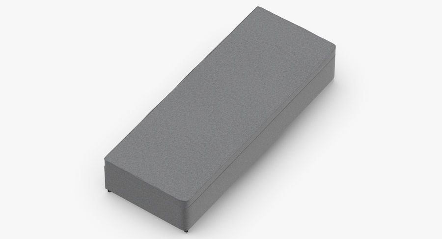 Bed Base 02 Grey royalty-free 3d model - Preview no. 7
