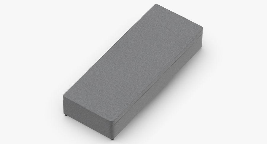 Основание кровати 02 Серый royalty-free 3d model - Preview no. 7