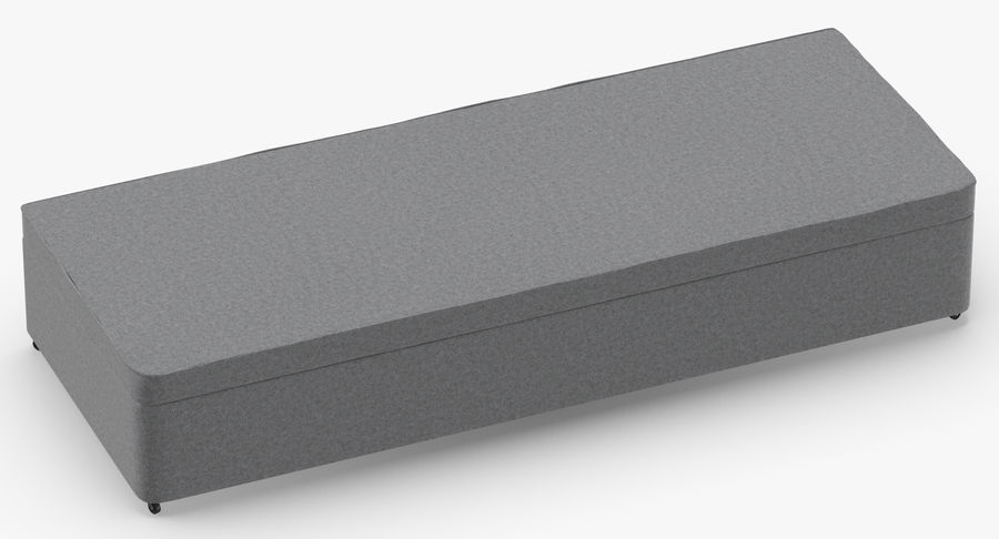 Bed Base 02 Grey royalty-free 3d model - Preview no. 3
