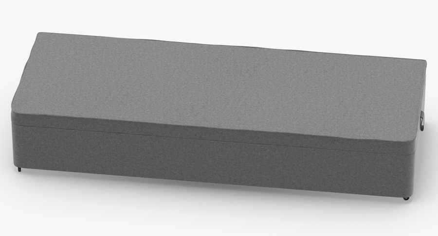 Основание кровати 02 Серый royalty-free 3d model - Preview no. 5