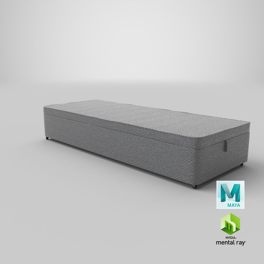 Bed Base 02 Grey royalty-free 3d model - Preview no. 27