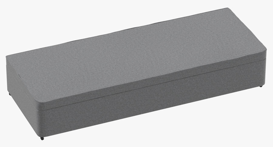 Bed Base 02 Grey royalty-free 3d model - Preview no. 2