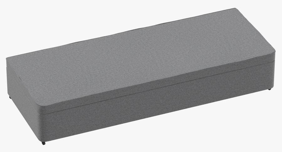 Основание кровати 02 Серый royalty-free 3d model - Preview no. 2