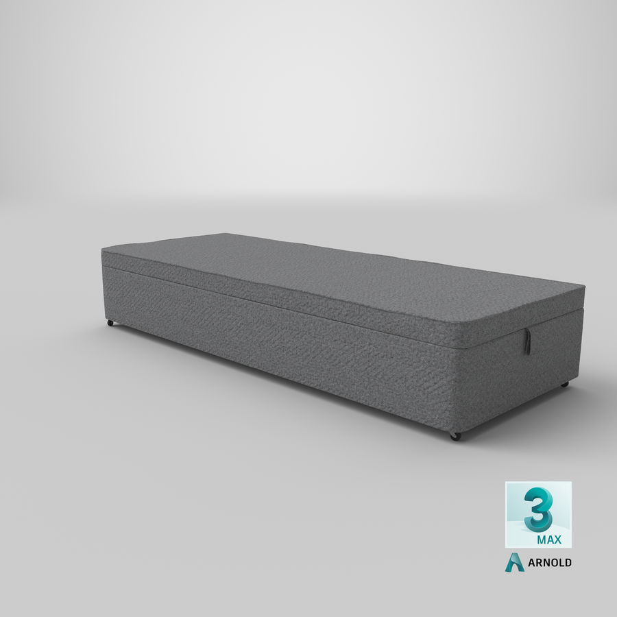 Bed Base 02 Grey royalty-free 3d model - Preview no. 23