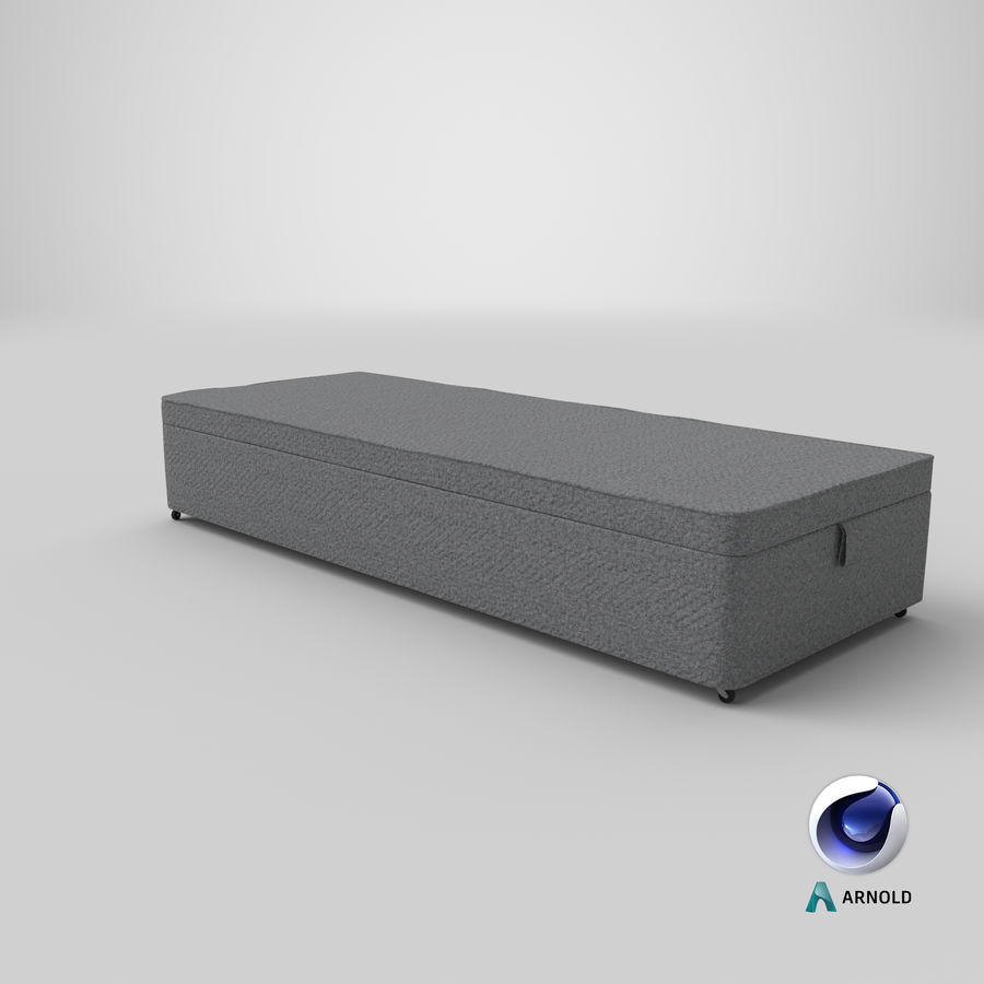 Bed Base 02 Grey royalty-free 3d model - Preview no. 22