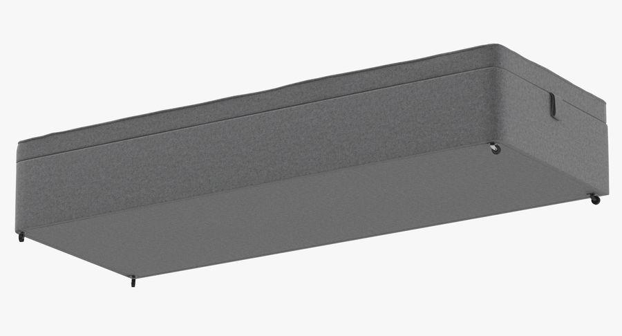 Основание кровати 02 Серый royalty-free 3d model - Preview no. 9
