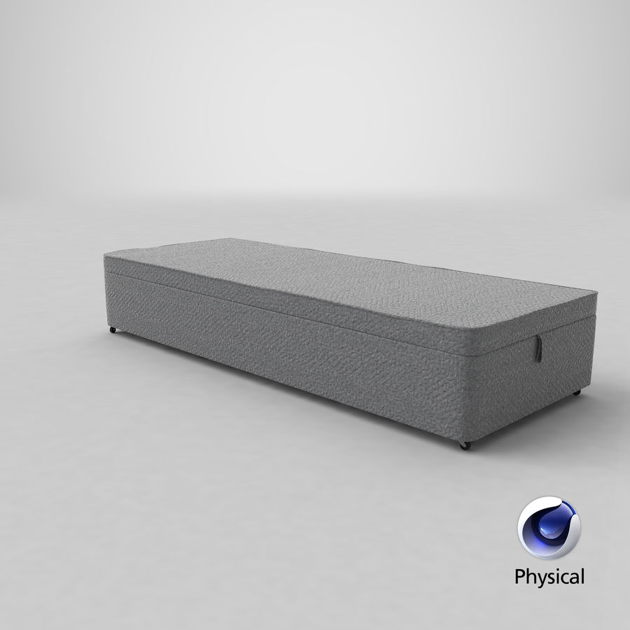 Bed Base 02 Grey royalty-free 3d model - Preview no. 21
