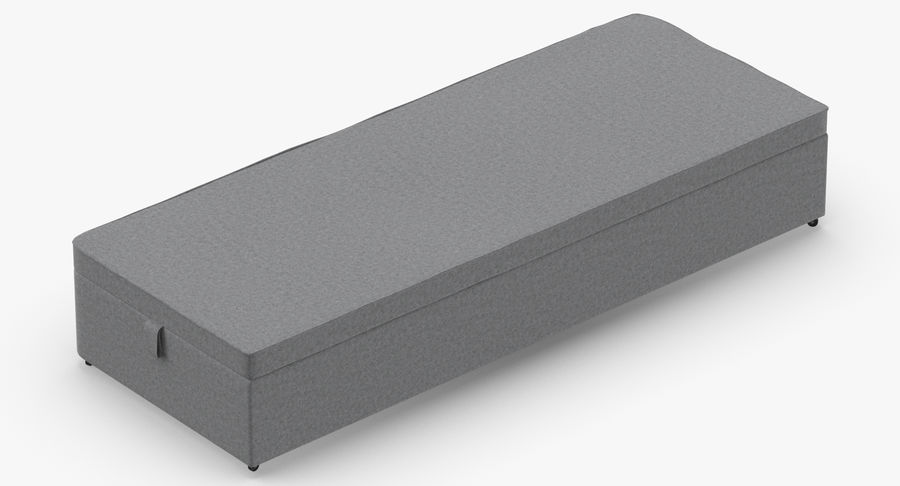 Bed Base 02 Grey royalty-free 3d model - Preview no. 6