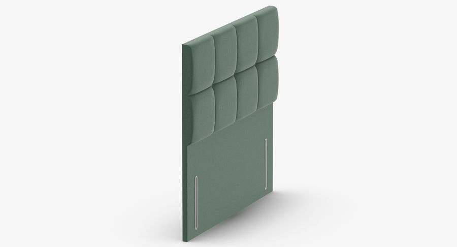 Headboard 03 Mint royalty-free 3d model - Preview no. 4