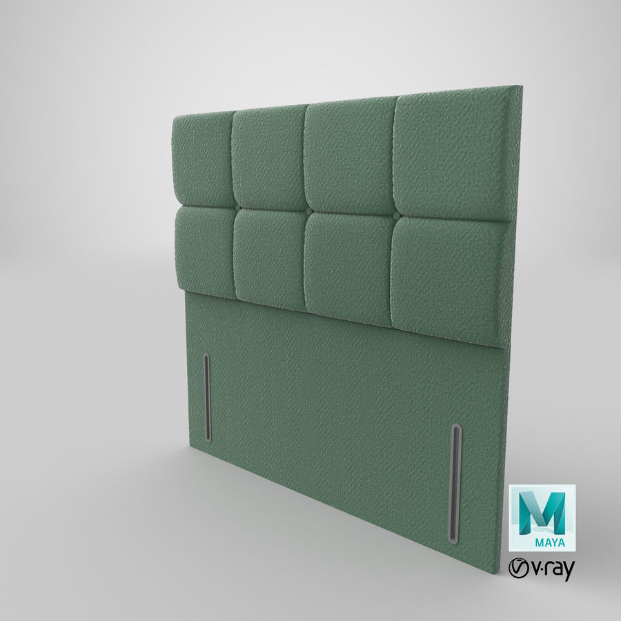 Headboard 03 Mint royalty-free 3d model - Preview no. 29