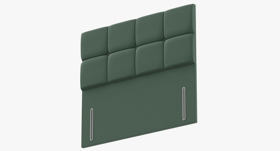 Headboard 03 Mint royalty-free 3d model - Preview no. 9
