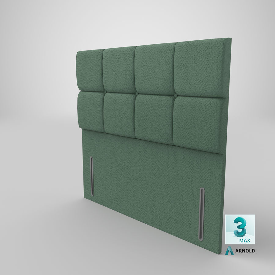 Headboard 03 Mint royalty-free 3d model - Preview no. 24